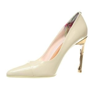 Ted Baker IVORY and Rose Gold Cossay Leather 8